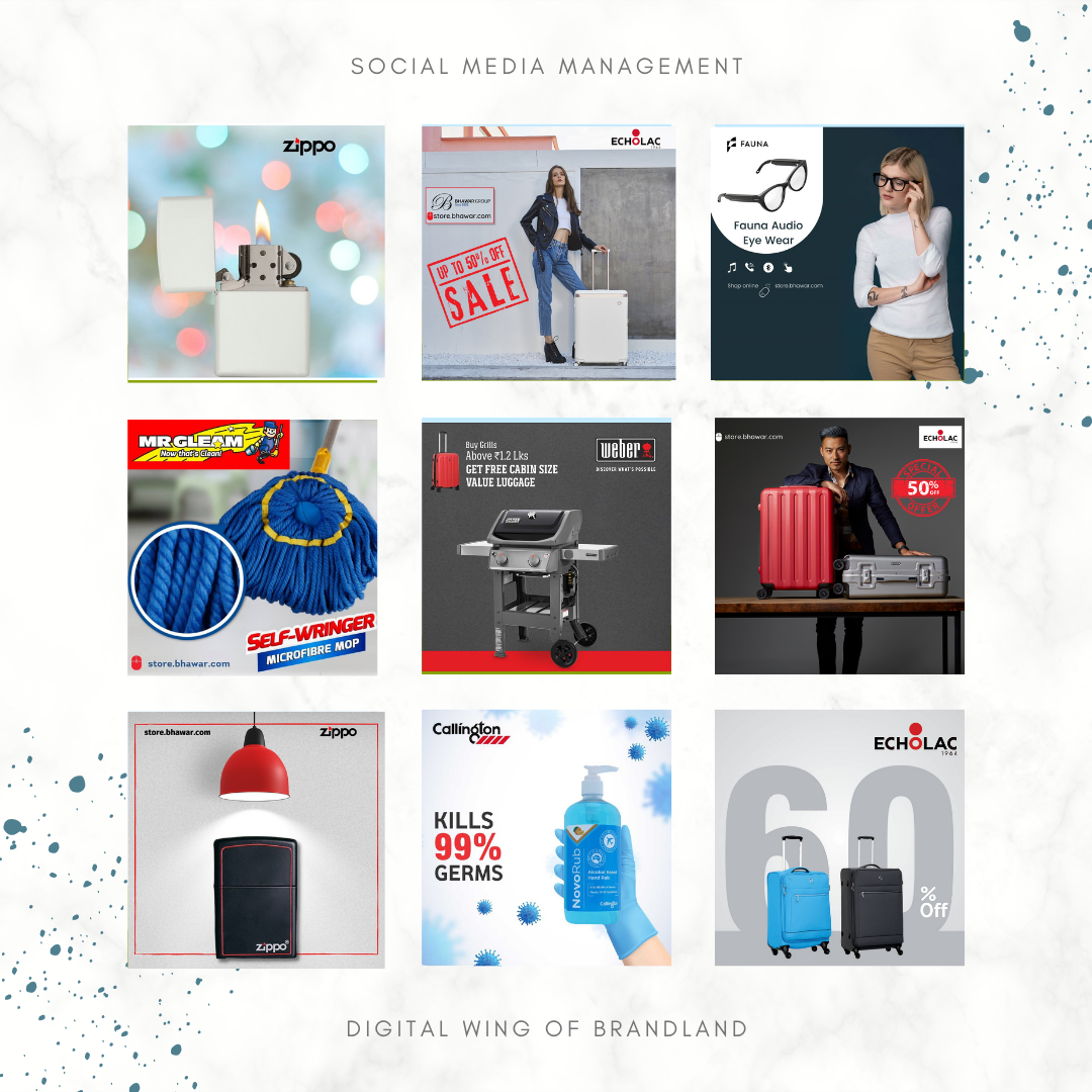 Some of the Social Media Management works
