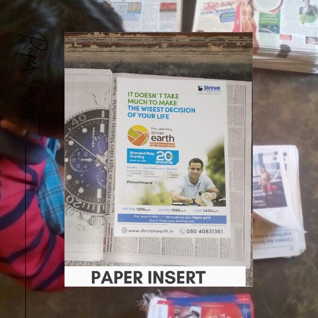Paper insert by Brandland
